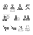 Engineer icons set vector image vector image