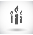 Candles single icon vector image