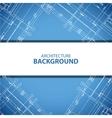 Best blueprint building plan background vector image vector image