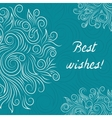 Creative Turquoise Elegant Card vector image