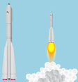 Booster Union Space rocket soars vector image