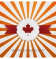 Happy Canada Day greeting Badge with Type vector image