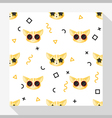 Animal seamless pattern collection with cat 6 vector image