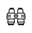binoculars icon on white background vector image