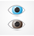 Blue and Brown Eyes vector image