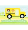 Children in School Bus vector image
