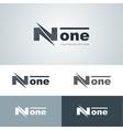 flashy none logo vector image