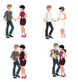 happy family stages vector image