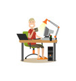 internet people flat vector image
