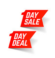 one day sale and deal signs big super sale vector image