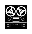 reel to reel tape deck player recorder vector image