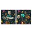 seamless pattern for halloween party vintage vector image