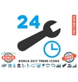 Service Hours Flat Icon With 2017 Bonus Trend vector image