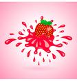 strawberry splash element red vector image