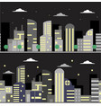 two banners with night city vector image