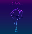 Yoga pose womans silhouette vector image