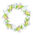 Winter floral bouquet wreath vector image