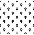 bed hostel hotel sign pattern vector image