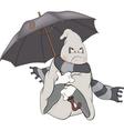 Spirit and an umbrellaCartoon vector image