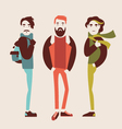 man in fashion clothes vector image