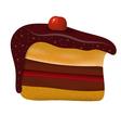 Piece of birthday cake vector image