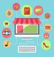 Online Shopping Flat Design Item vector image vector image