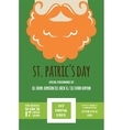 leprechaun or Irish man with mustache and beard vector image