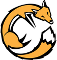 Curled Fox vector image
