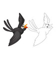 animal doodle for crow vector image