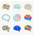Brain creation and idea icon set vector image