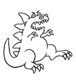 cartoon big angry dinosaur vector image