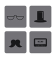 icon set Hipster Style design graphic vector image