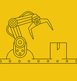 Industrial manipulator or mechanical robot arm vector image