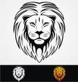 Lions Head Tribal Mascot vector image