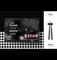 modern geometric black white mockup layout vector image