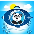 Panda on a submarine vector image