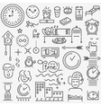 sleeping time icons set vector image