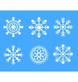 Snowflakes white icon set vector image