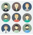 Male Faces Icons Set vector image