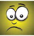 emotions yellow unhappy vector image vector image