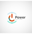 Power button logo design vector image