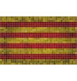 Mosaic Flag of Catalonia vector image