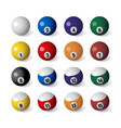 billiards balls vector image