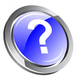 3d question icon vector image