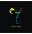 Cocktails icon vector image vector image