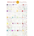 Logo mega collection vector image