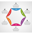 Abstract paper hexagon infographics template vector image