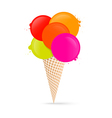 Colorful Ice Cream Isolated on White Background vector image