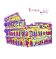 famous place of Rome Italy original drawing in vector image