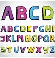 Grunge hand drawn alphabet vector image